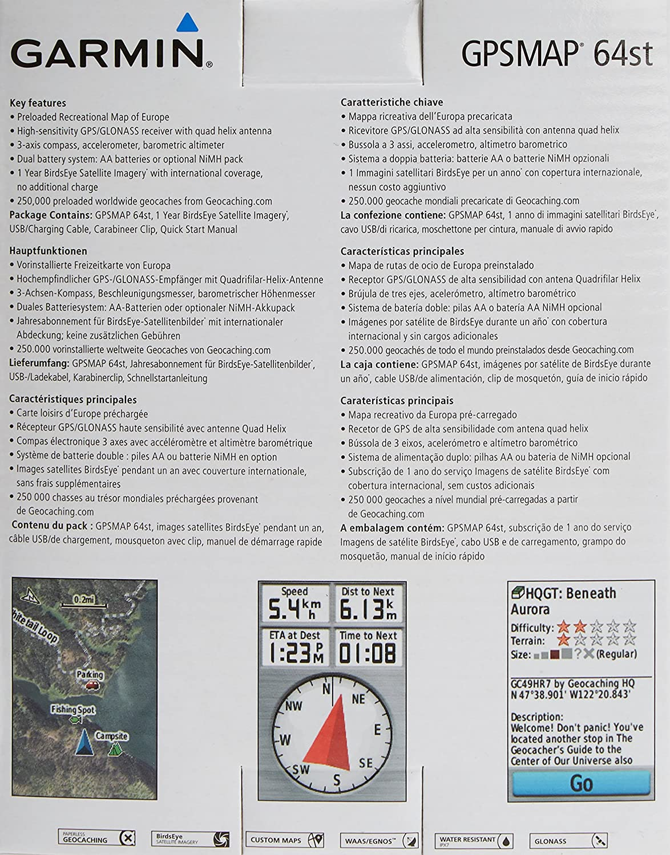 Garmin GPSMAP 64st caja